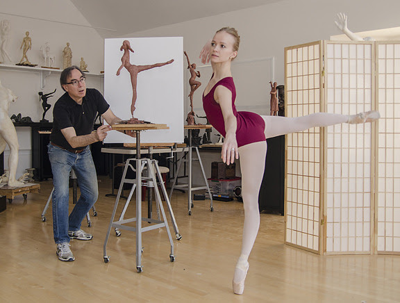 Early state new work in process working with American Ballet Theatre Corps de Ballet member Elina Miettinen. Photo: Richard Lerner