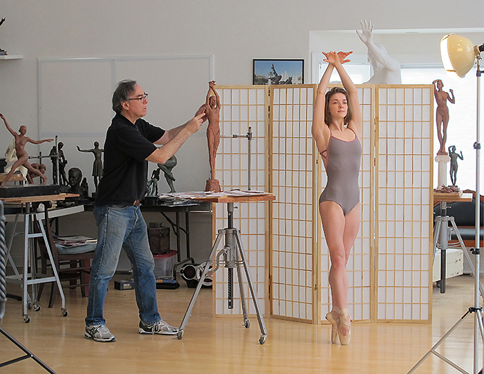 Early state work in process working with American Ballet Theatre soloist Cassandra Trenary. Photo: Richard Lerner