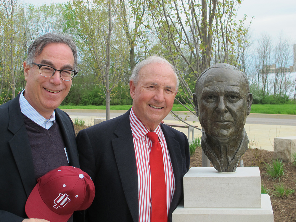 Bart and Marc with the newly installed bust.