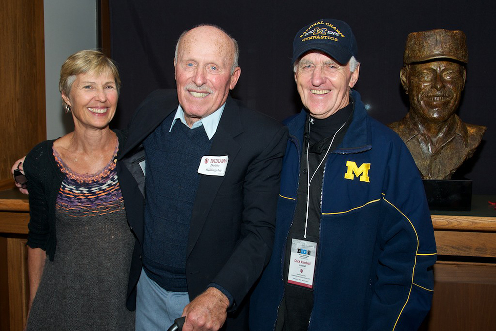 Lesley Bush, 1964 Olympic Gold Medalist in Platform Diving, with Hobie and Dick Kimball, a fellow swimming and diving coach and diving champion.