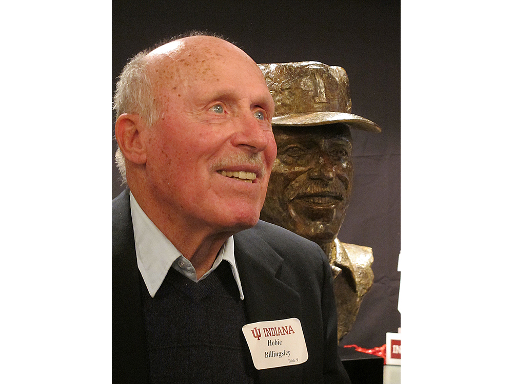 Hobie Billingsley with Bronze Bust