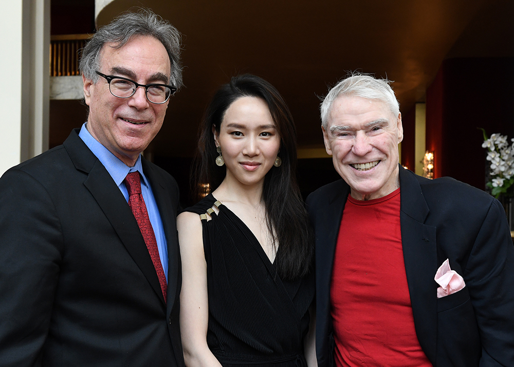 THE ABT 2016 GOLDEN CIRCLE LUNCHEON - Hee Seo, Curtain Call  Marc with Hee Seo and legendary dancer, choreographer, and educator Jacques d'Amboise.  Photo © Johanna Weber