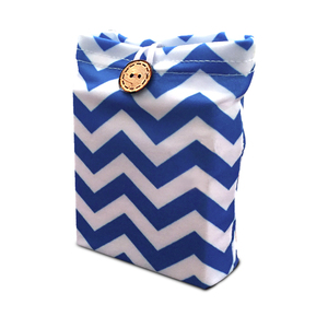 Individual gift card holder with gift tag wrapeezreusable blue chevron gift card holder bluechevrongiftcard2g negle Choice Image