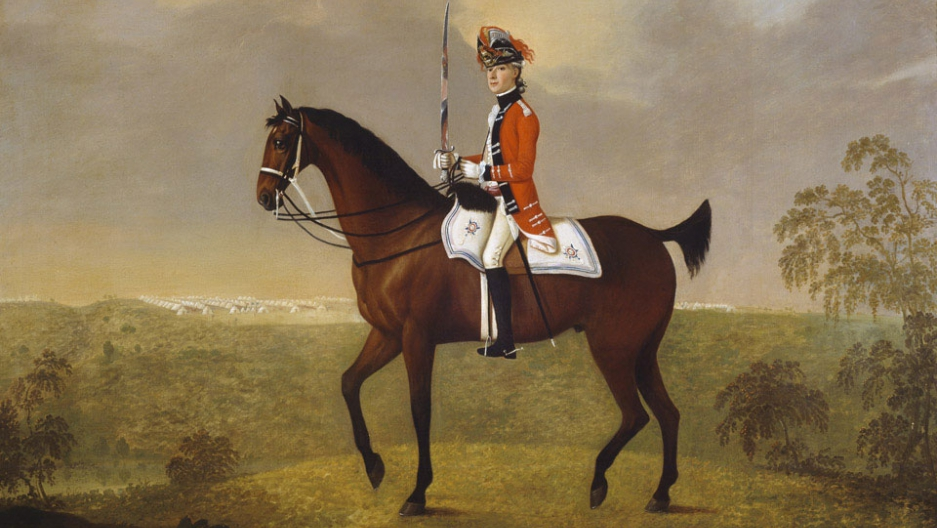 Cornet Thomas Boothby Parkyns, 15th (or the King's) Regiment of (Light) Dragoons, 1780.  Credit: National Army Museum