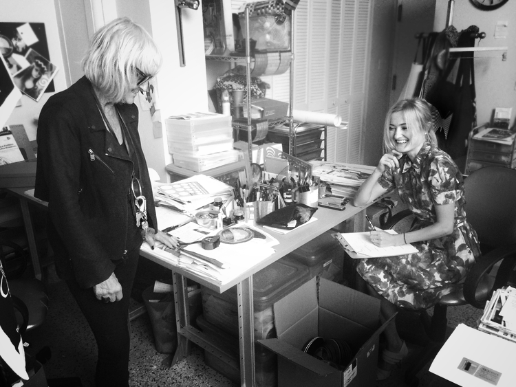 Interviewing Barbara at her atelier, Miami | Fl. Photo taken  by lovely Likrish Marchese ( Director of Business Development at Hu Design Inc.).