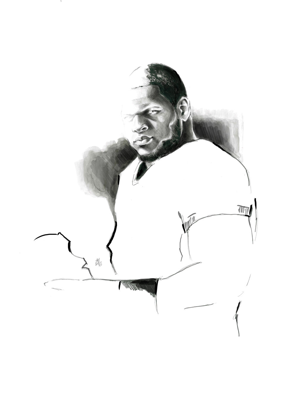 Portrait of Ndamukong Suh.