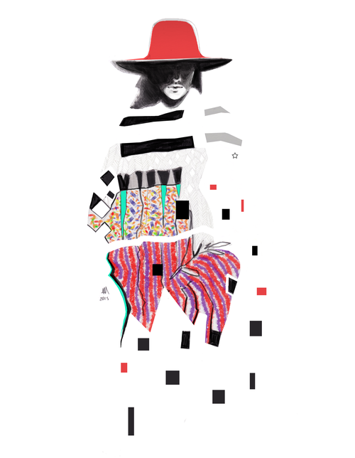 "fashion illustration: ""bohemian""."