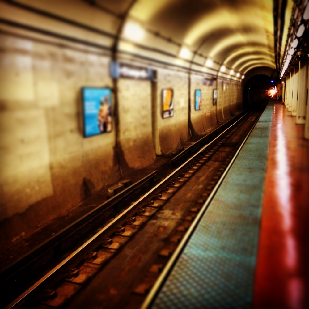 Blue line stop - Commute to Work Summer 2015 Chicago.JPG