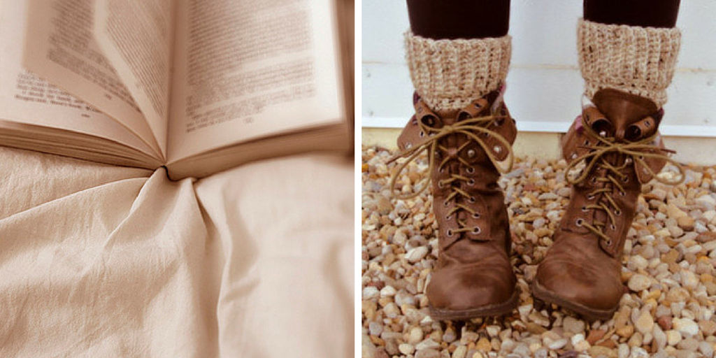fall booties and books