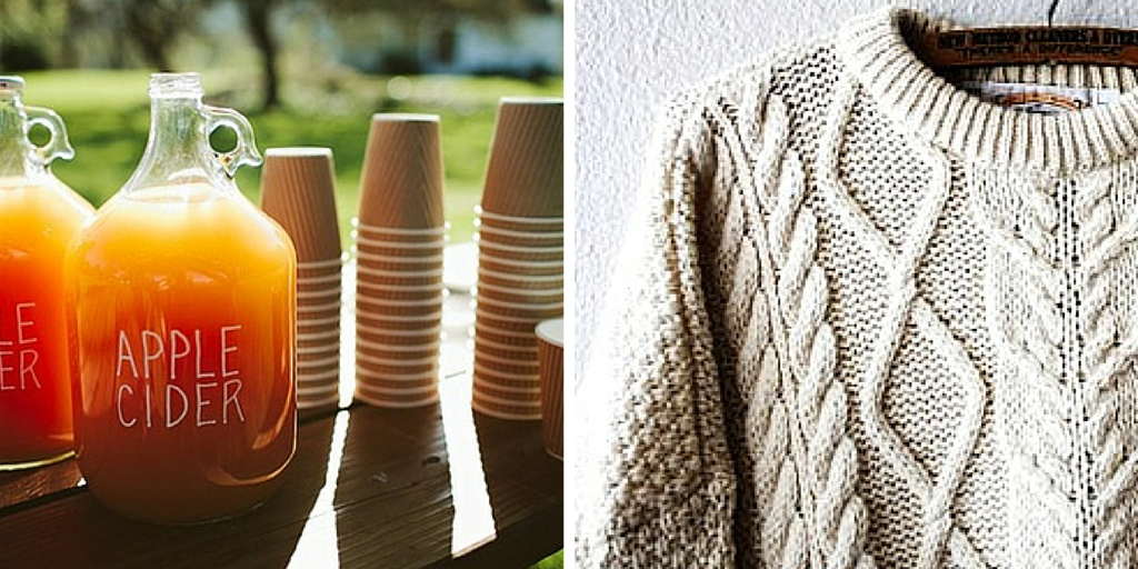 cider and sweaters