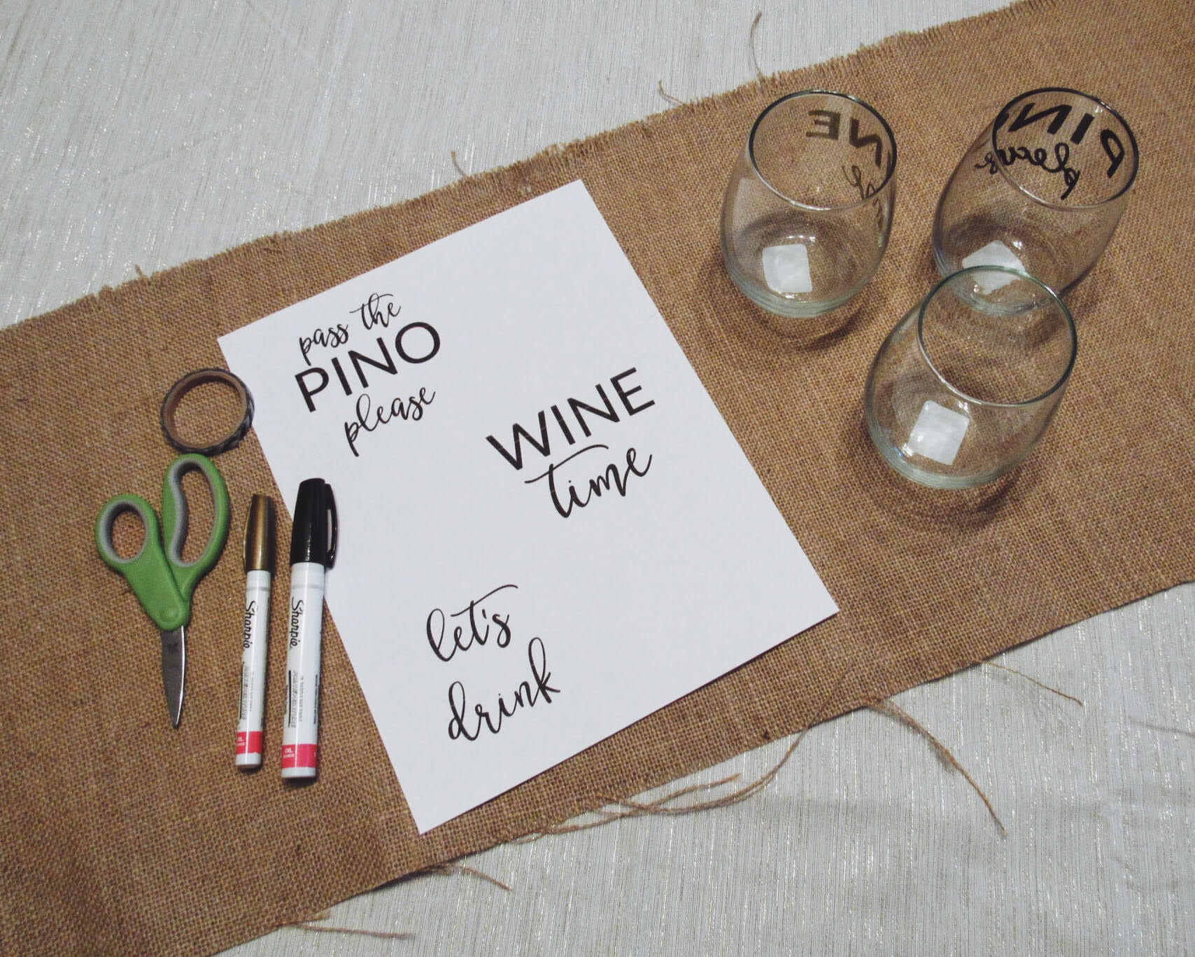 Diy Gift Wine Glasses Keeping The Creativity