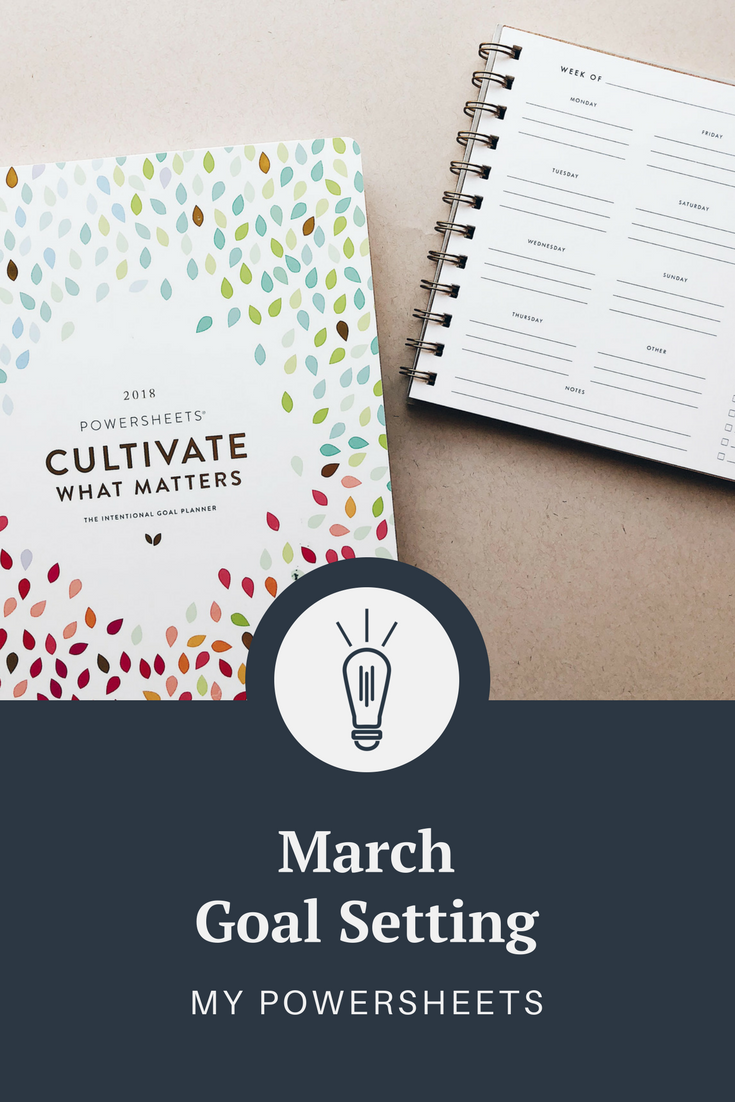 March Powersheets Goals