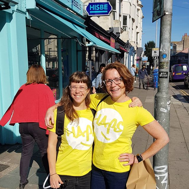 We're on the streets in Brighton today! Spreading happiness with free HAPS and sunny smiles. Beautiful day for it ☀️