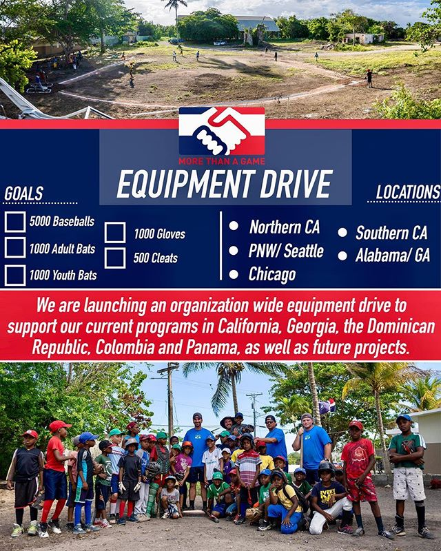 For the month of August we'll be hosting equipment drives in 5 locations! Check out the link in our bio to find out how to donate and where! Let's see which area can collect the most!