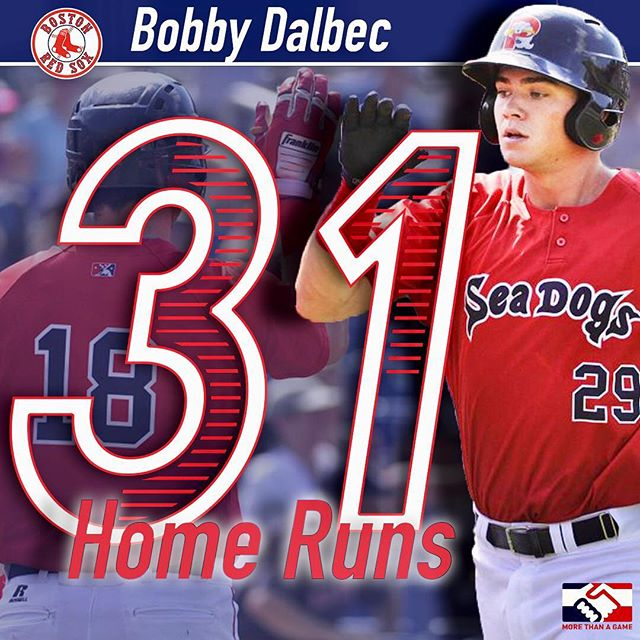 Bob making it look easy! 5 HR's in his first 33 ab's with the Portland Sea Dogs! ⠀⠀⠀⠀⠀⠀⠀⠀⠀ Bob will be joining us for our trip to Puerto Rico in October!