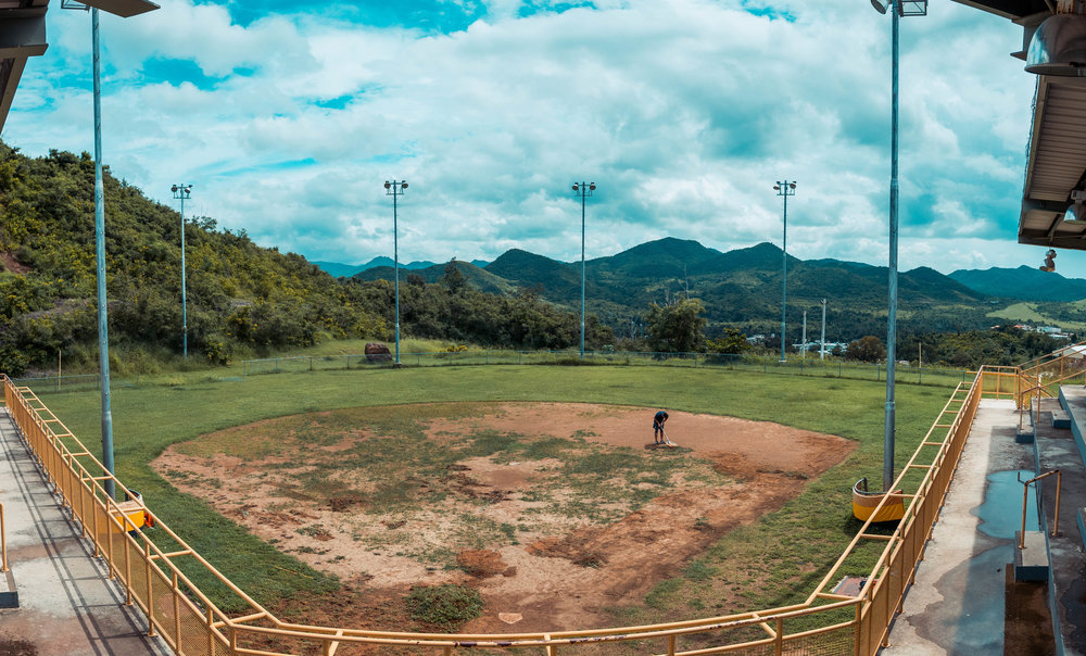 Hurricane Maria left areas of Puerto Rico in shambles, including this baseball complex.