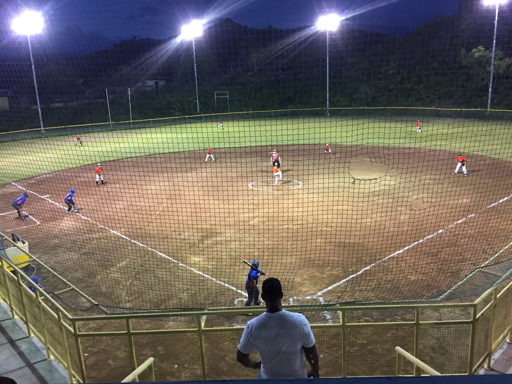 October 18th, 2018: the 1st game at the Alberto Ortiz Aponte youth baseball complex in 13 months.