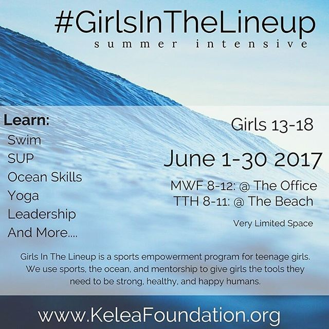 Check out this amazing program for teenage girls that we are running this #summer!  The best part is that for every girl that signs up at full cost for the intensive, another girl will get a scholarship to attend! Check out @keleafoundation to sign up  #community #mauilife #teach #sportsmatter