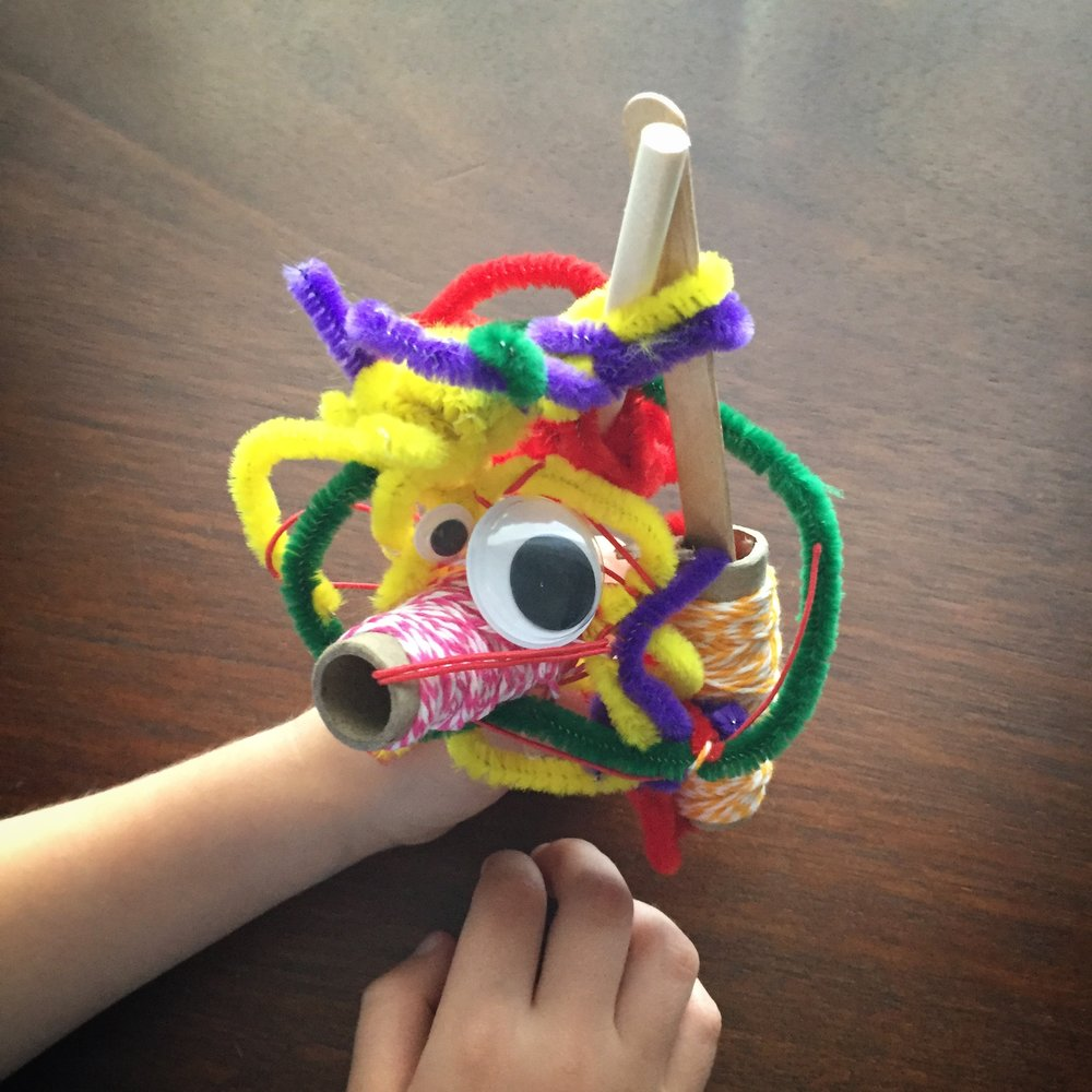 """A """"unicorn"""" my son created out of random items at home"""