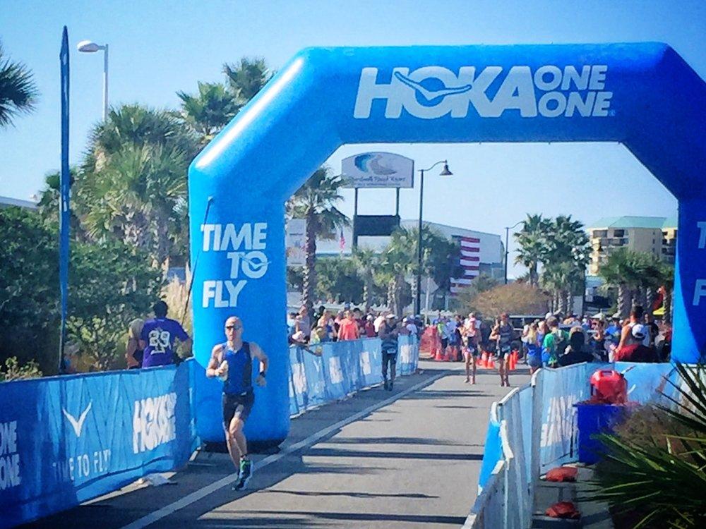 Chris   starting the marathon