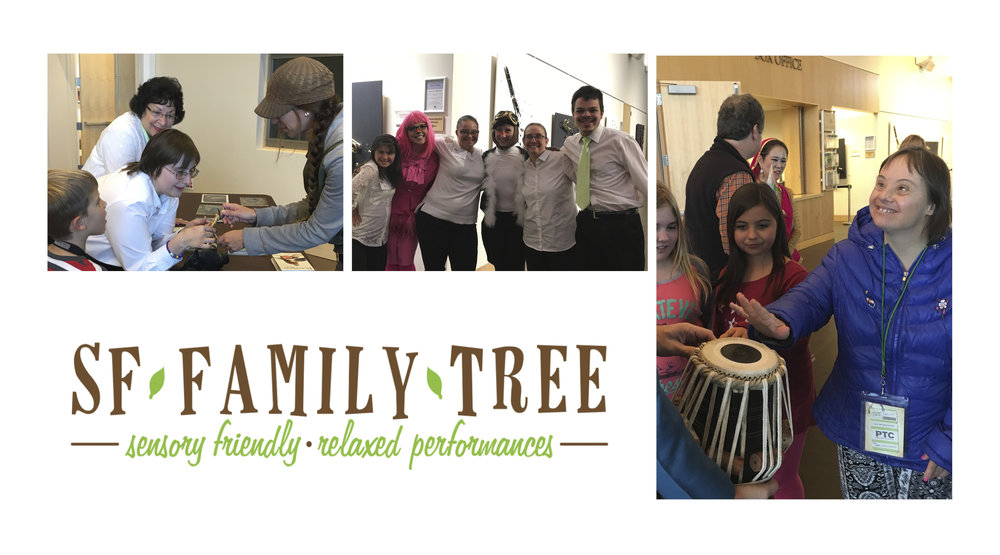 Lone Tree Arts Center offers Sensory Friendly programming on a regular basis to the public, check their website for upcoming SF Family Tree performance dates.