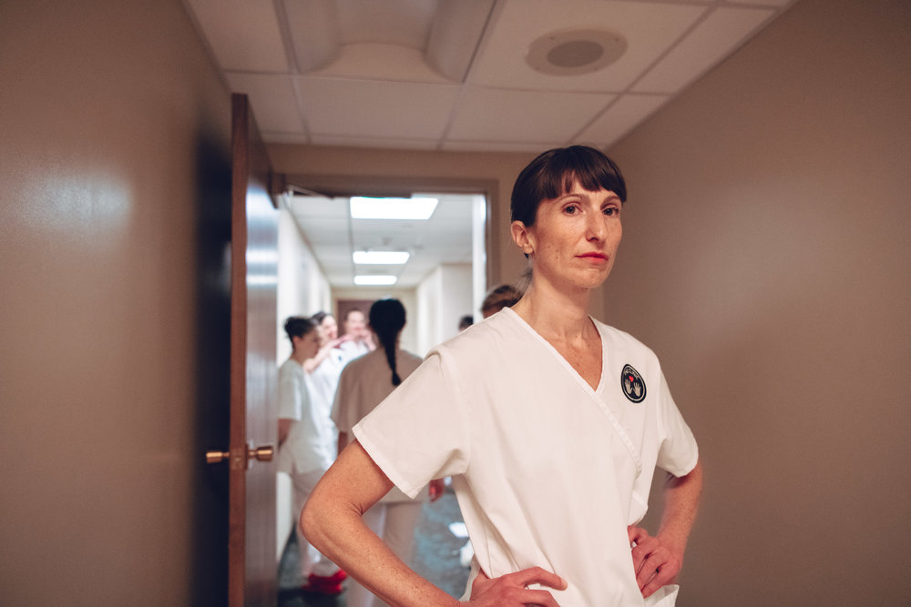 Tara Rynders    in rehearsal for First, Do No Harm at Rose Medical Center, in Denver, Colorado - photography by    DW Burnett