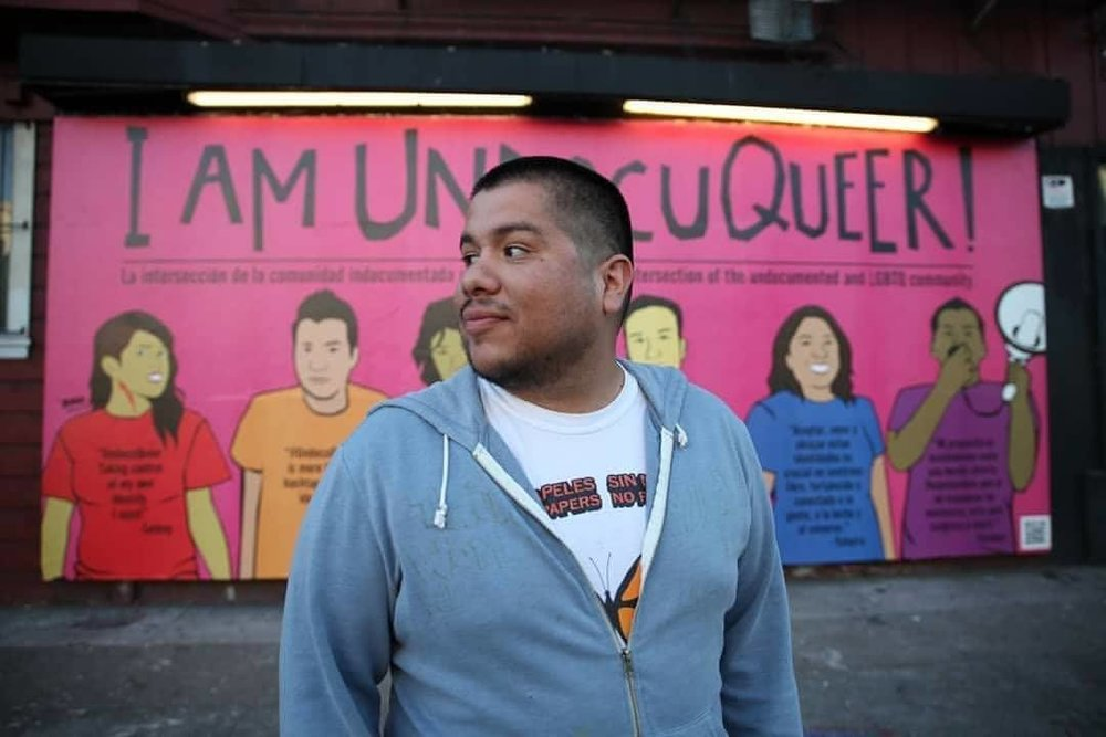 The artwork of  Julio Salgado  will be woven into the production of UndocuMonologues. Photo by  Jesus Iñiguez .