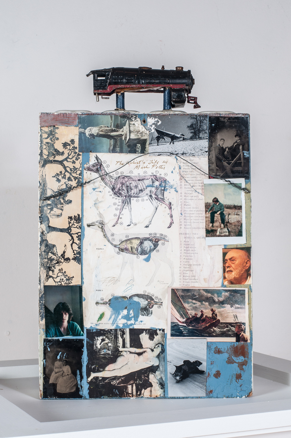 The Artist's Life (rear view).      1989, box, 19.5 x 12.3 x 4.6 inches.