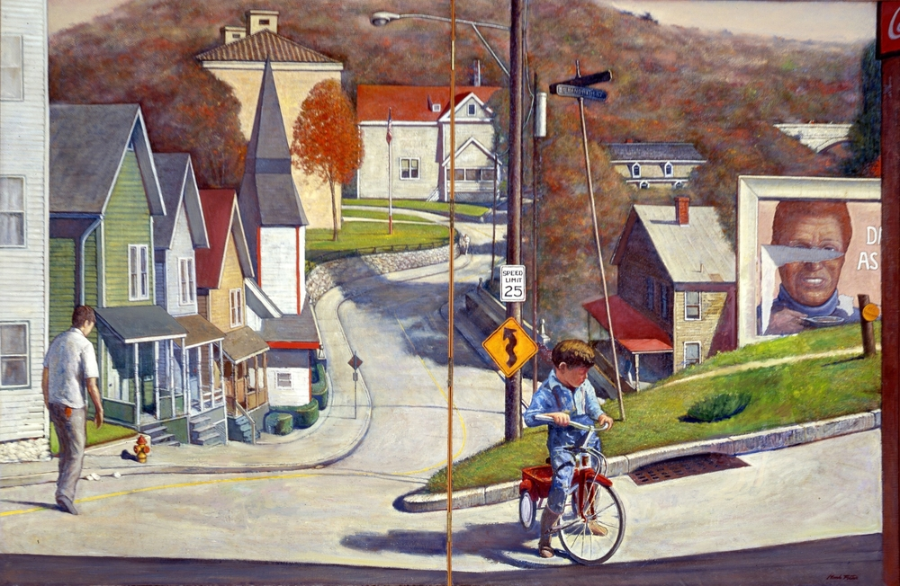 Brandreth Street.      1984-1994, oil on canvas. 51.5 x 79.5 inches. Private Collection.