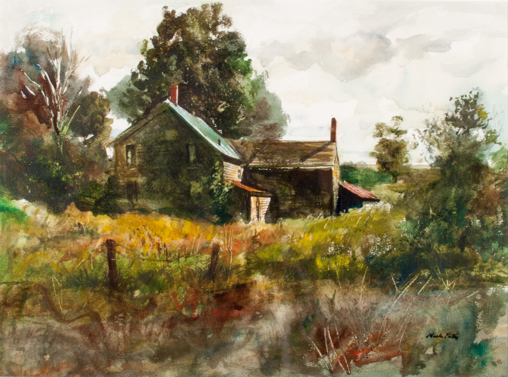 Near Remsen.      1980, watercolor. 17.3 x 23.3 inches.