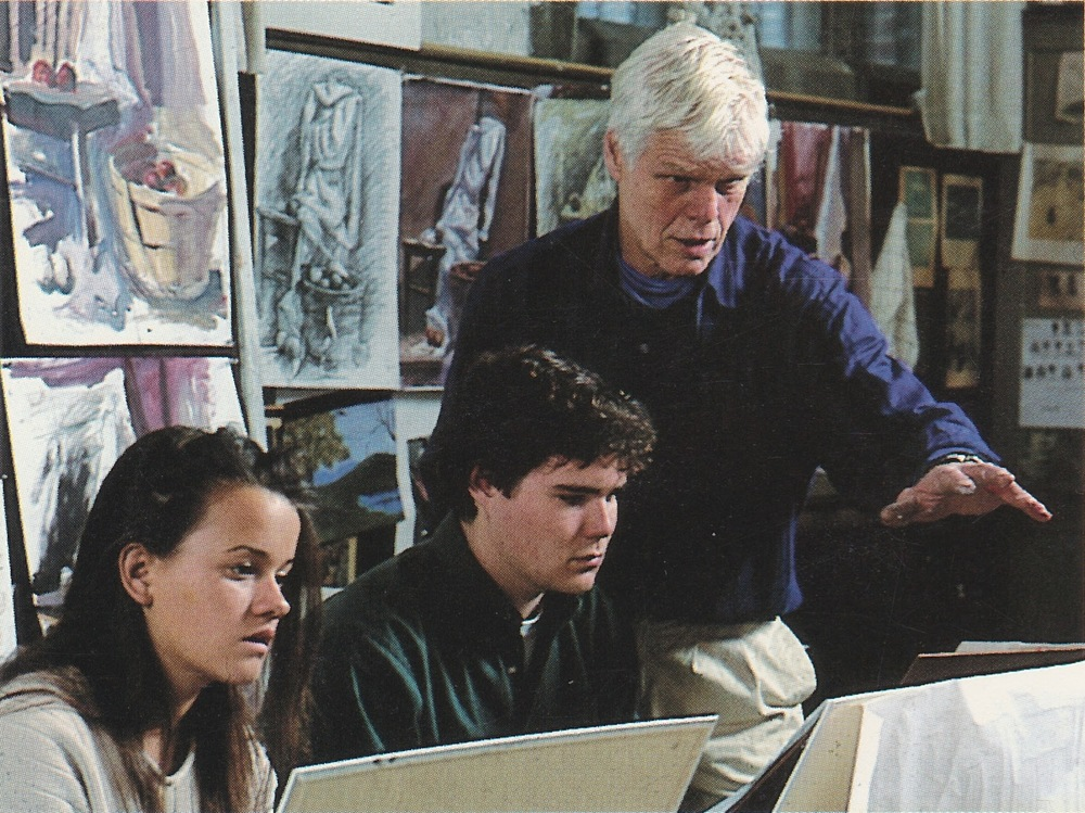 Mark Potter teaching Art at The Taft School circa 1993.     Credit: Vickers & Beechler courtesy of The Taft School.