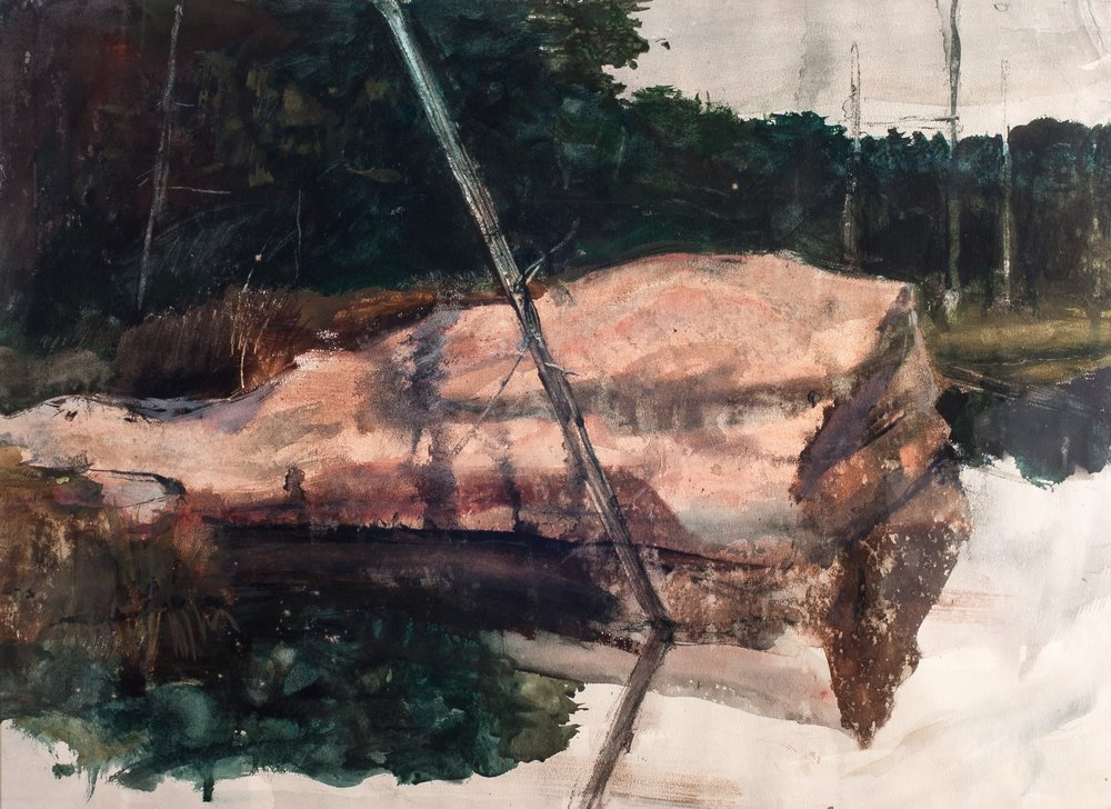 Pink Granite.        1968, watercolor. 20.8 x 28.1 inches.