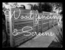 Wood fencing & Screens