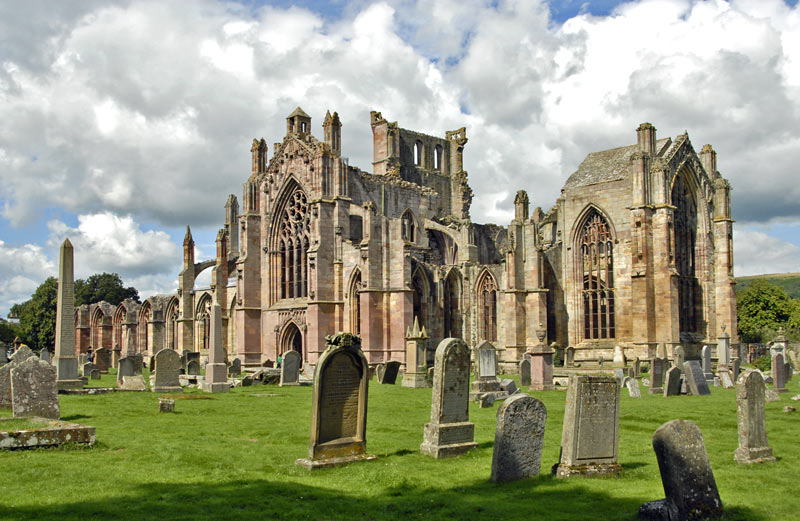 Melrose Abbey in the Scottish Borders...we'll see this on the way to Belhaven Brewery