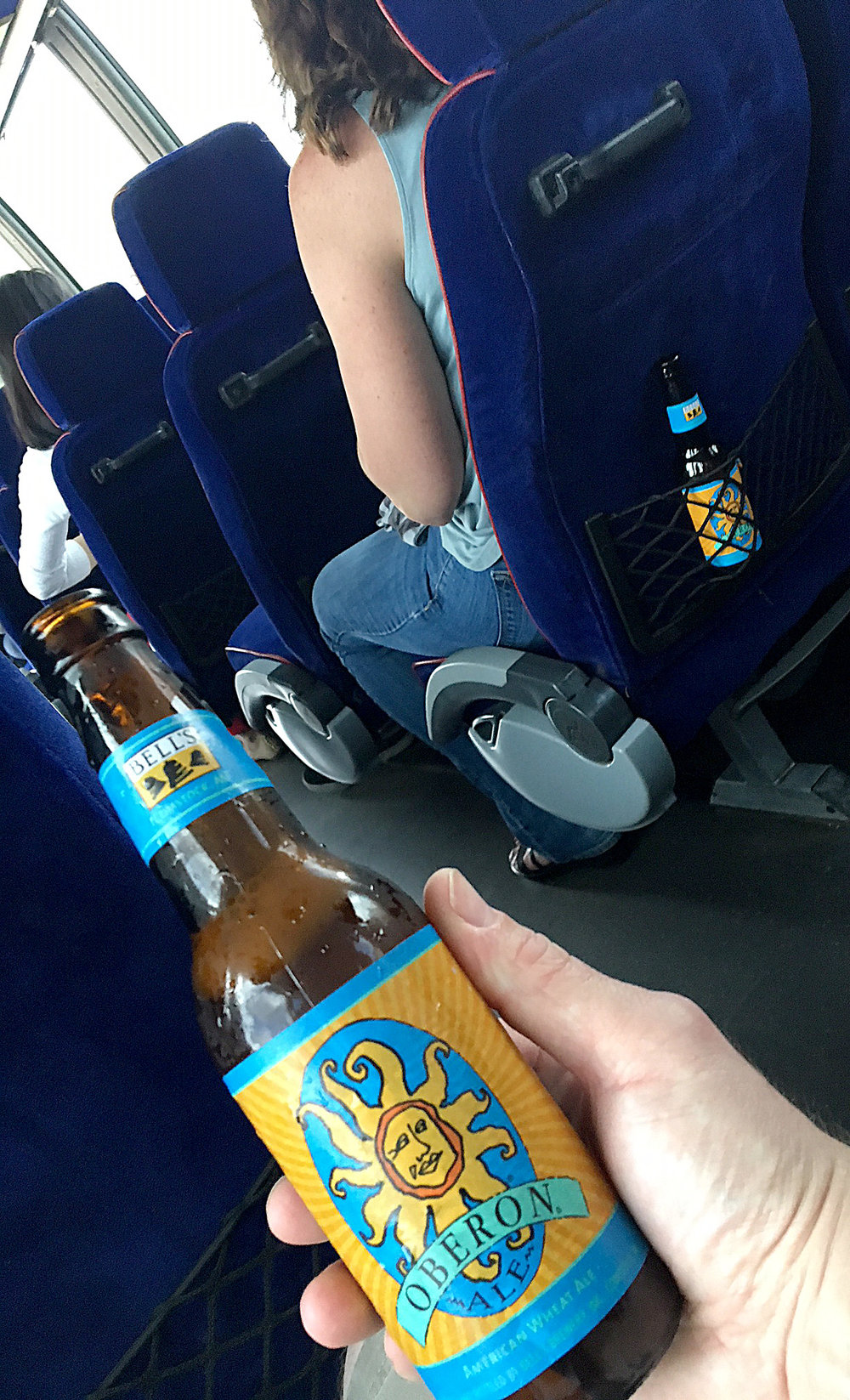 More bus beer. Headed toward the river for a riverboat cruise.