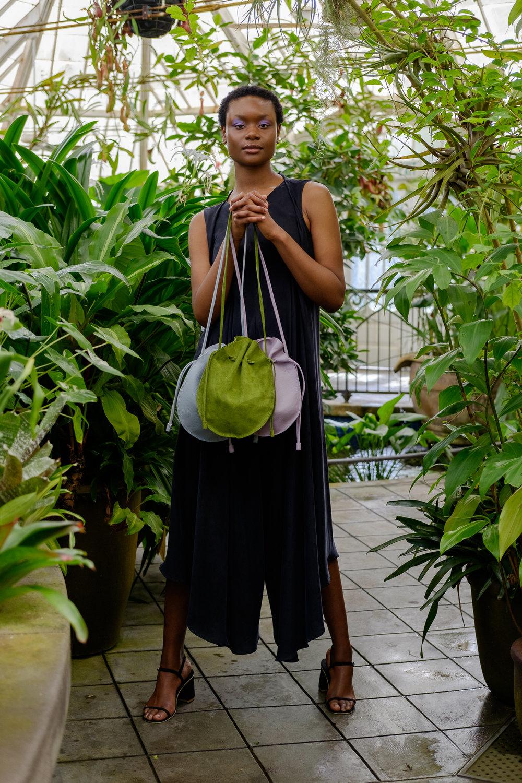 soft leather drawstring purse