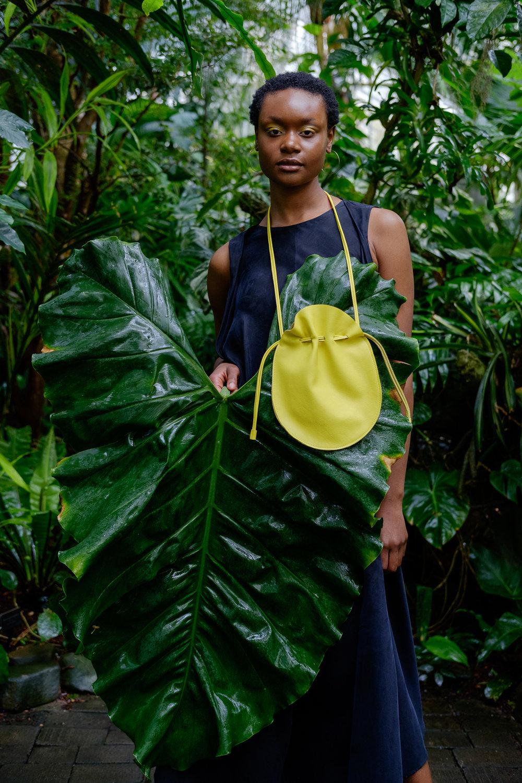 handmade soft leather drawstring purse