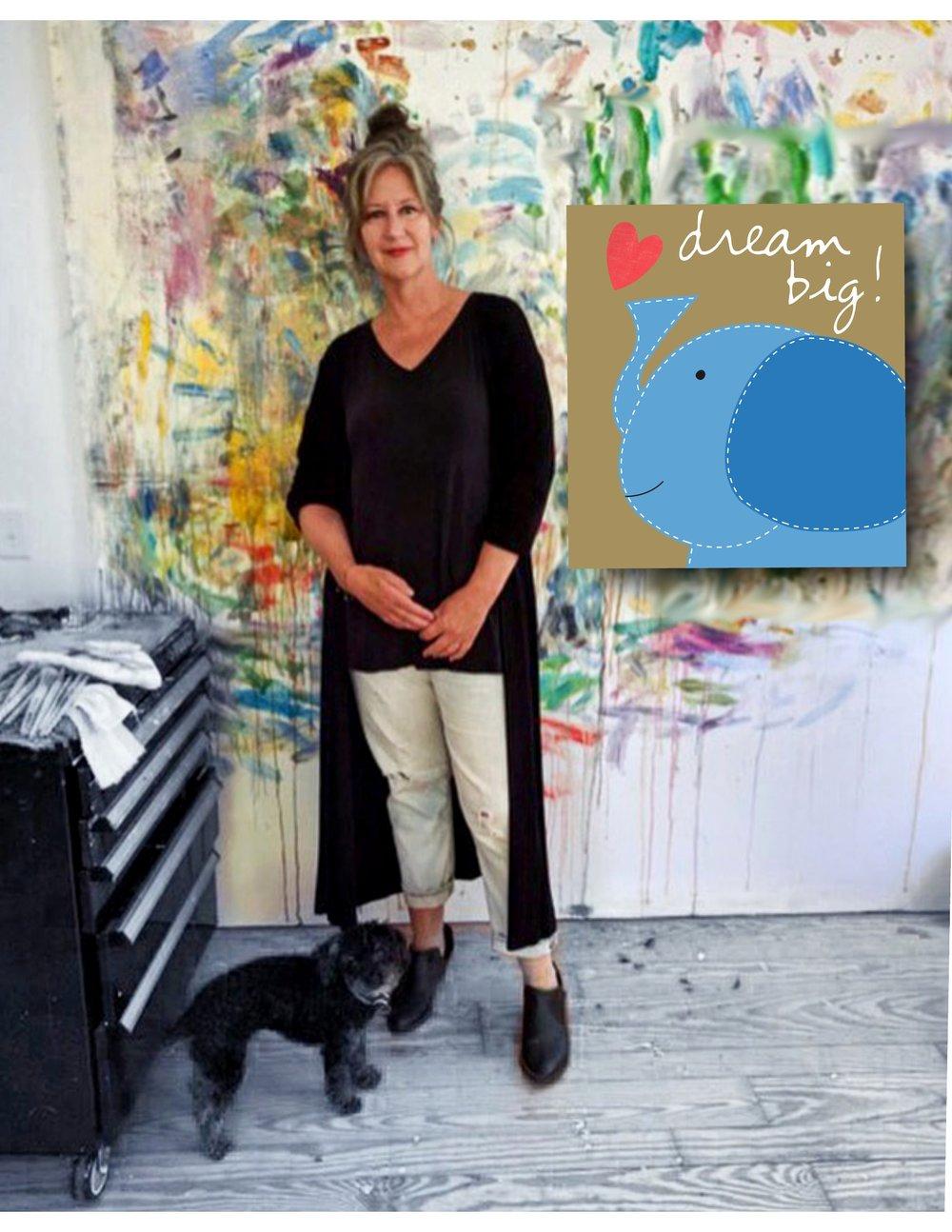 Sandra Magsamen in her studio.