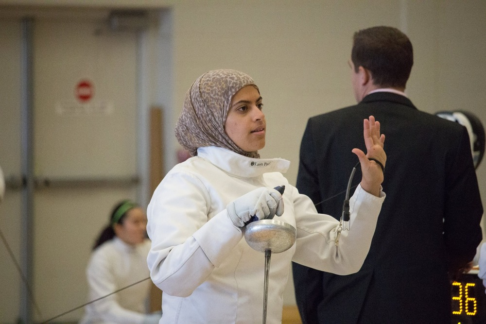 Noura Hamade, Epee Fencer at Brock Open Tournament 2015
