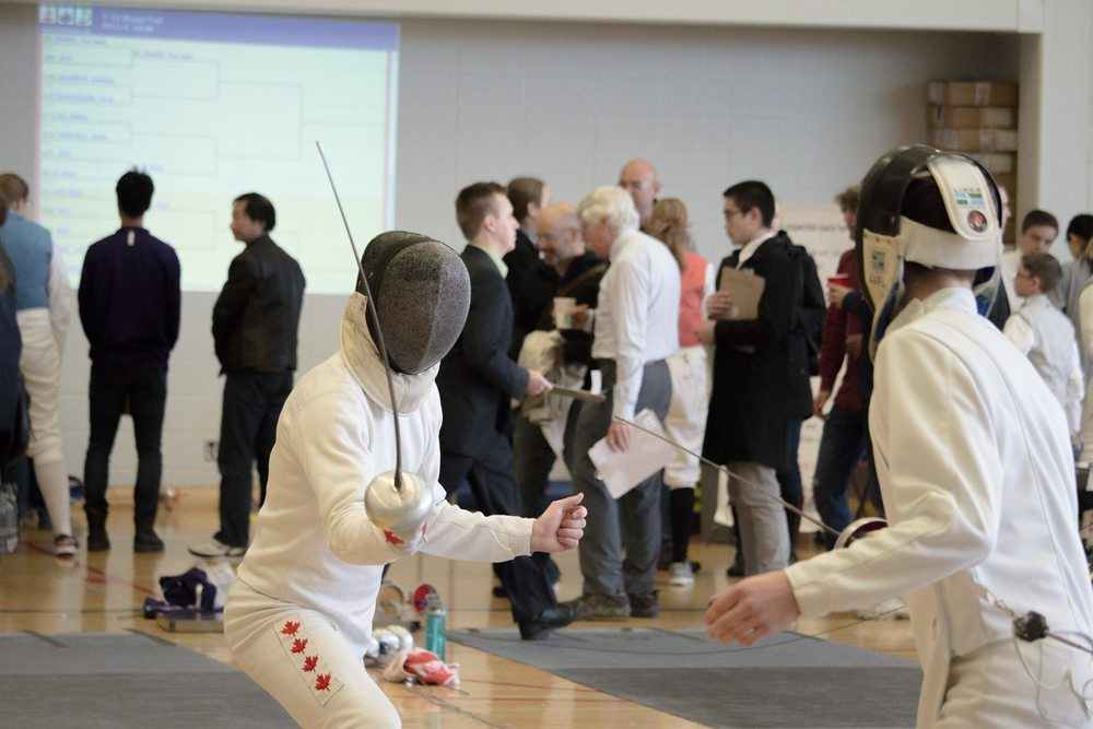 Connor Wilson Fencing at Brock Open Tournament 2015