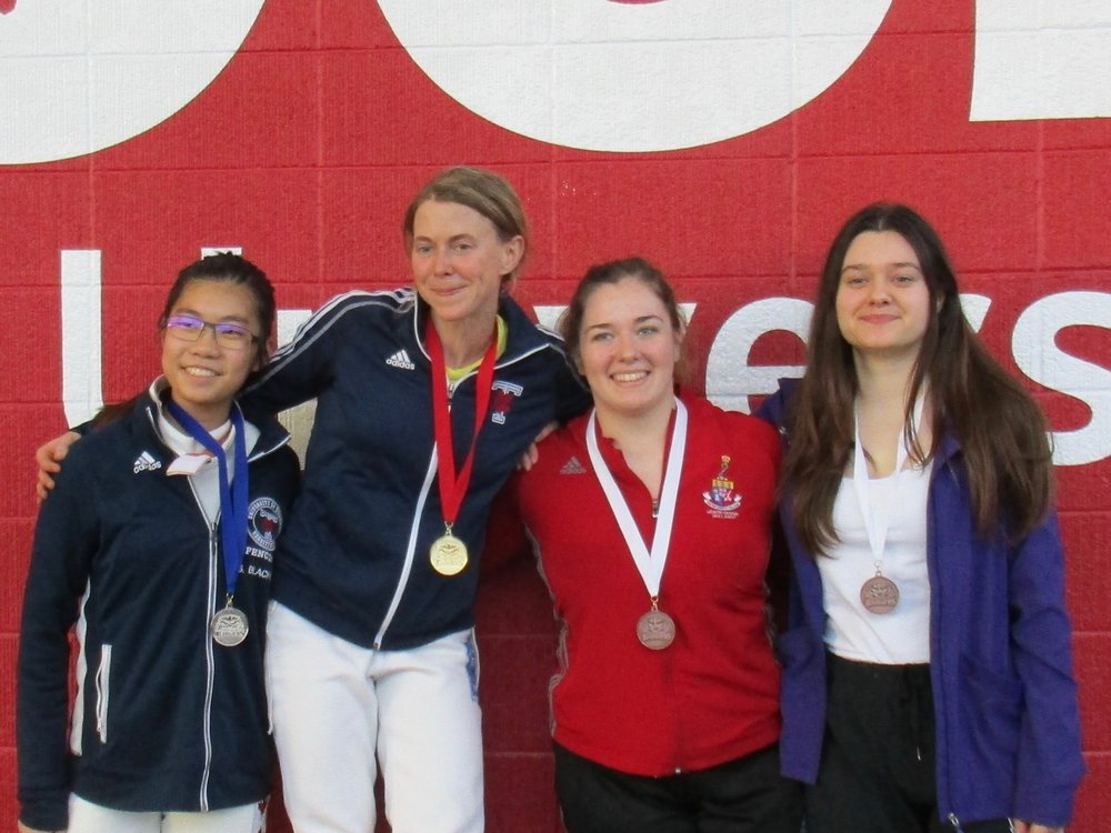 Roxanna with her Bronze Medal for Senior Womens Epee