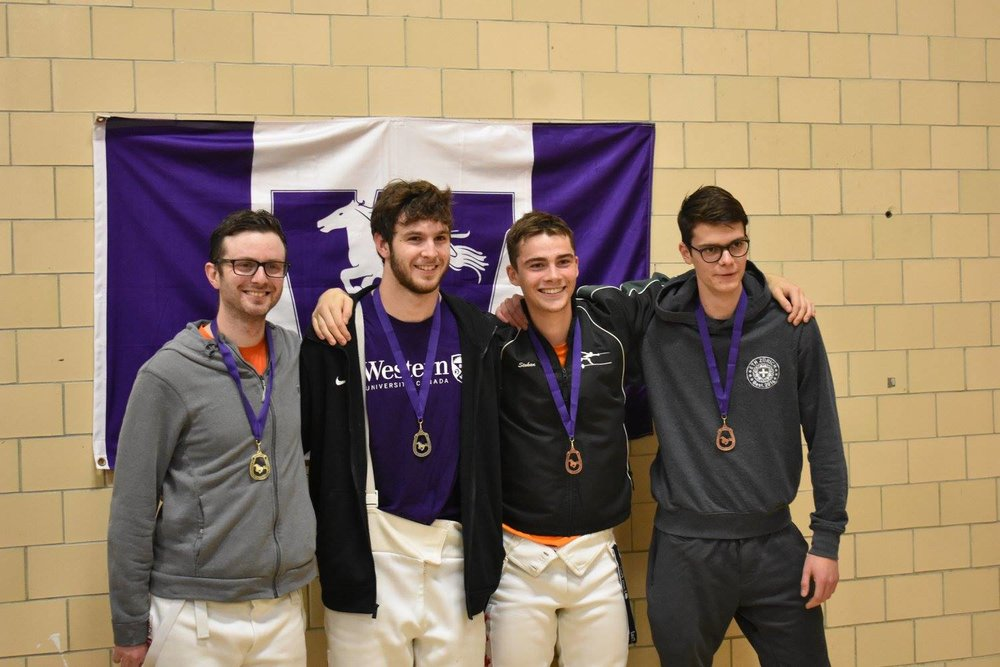 Men's Epee Medalists