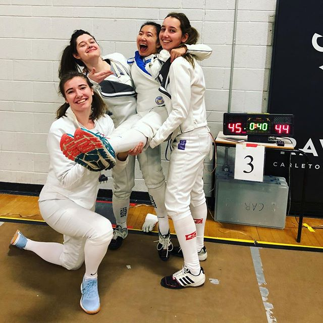 WESTERN A womens epee takes gold at Carleton!!! down to the last point!🥇🐎💜