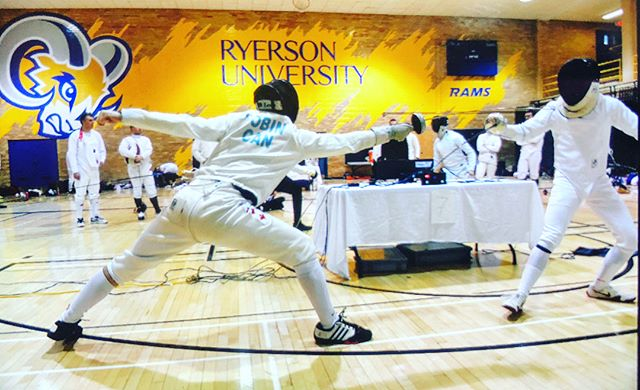 Fencing on point at Ryerson!!!!!🤺🤺🤺