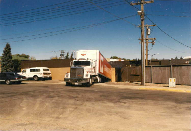 Making a delivery as a company driver for Canadian Tire in the late '80s.