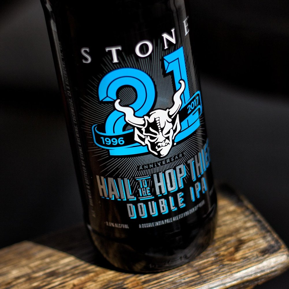 "Stone Brewing ""Hail to the Hop Thief"" 21st Anniversary Double IPA"