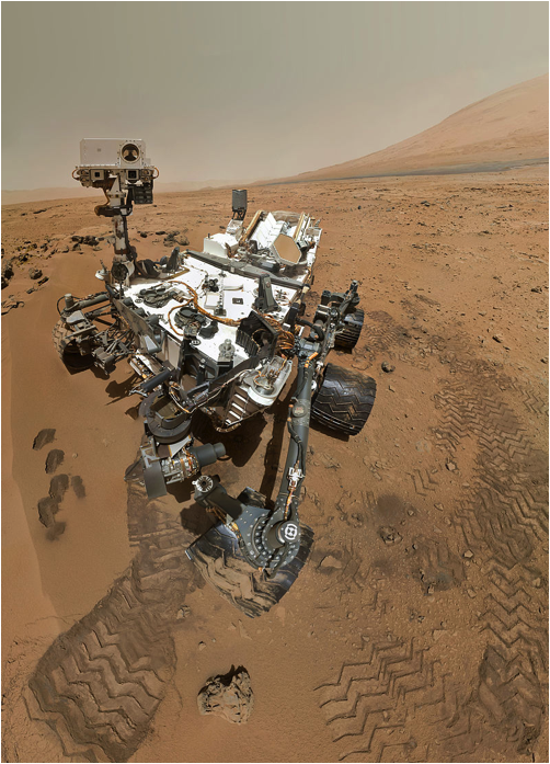Self-portrait of Curiosity rover taken on November 1, 2012