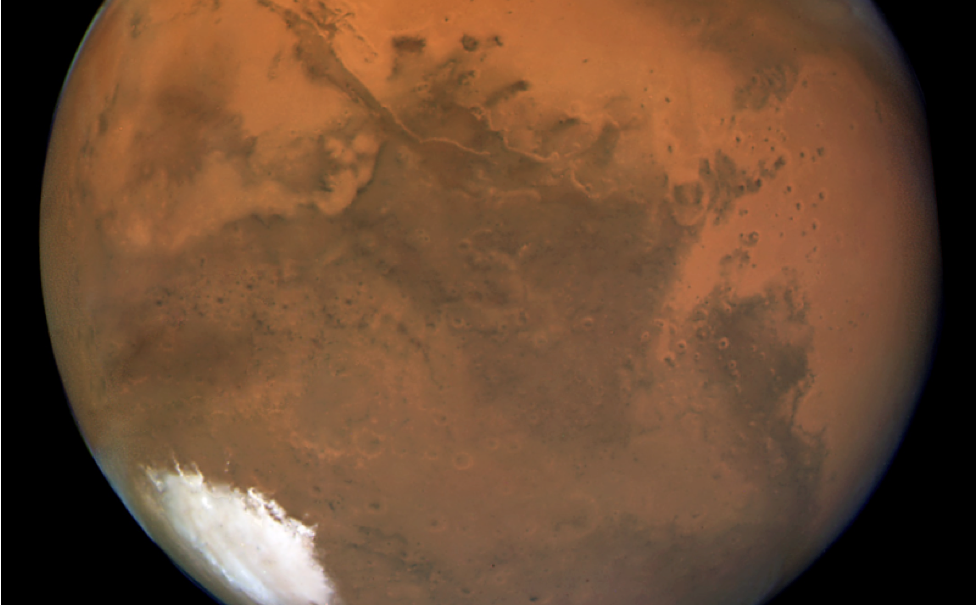 Image of Mars as taken by the Hubble Space Telescope