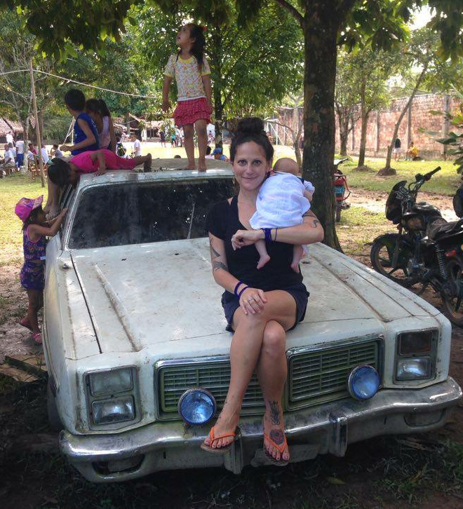 Sydney Silverstein, 6th year Anthropology PhD candidate with her newborn baby performing long-term fieldwork in Iquitos, Peru