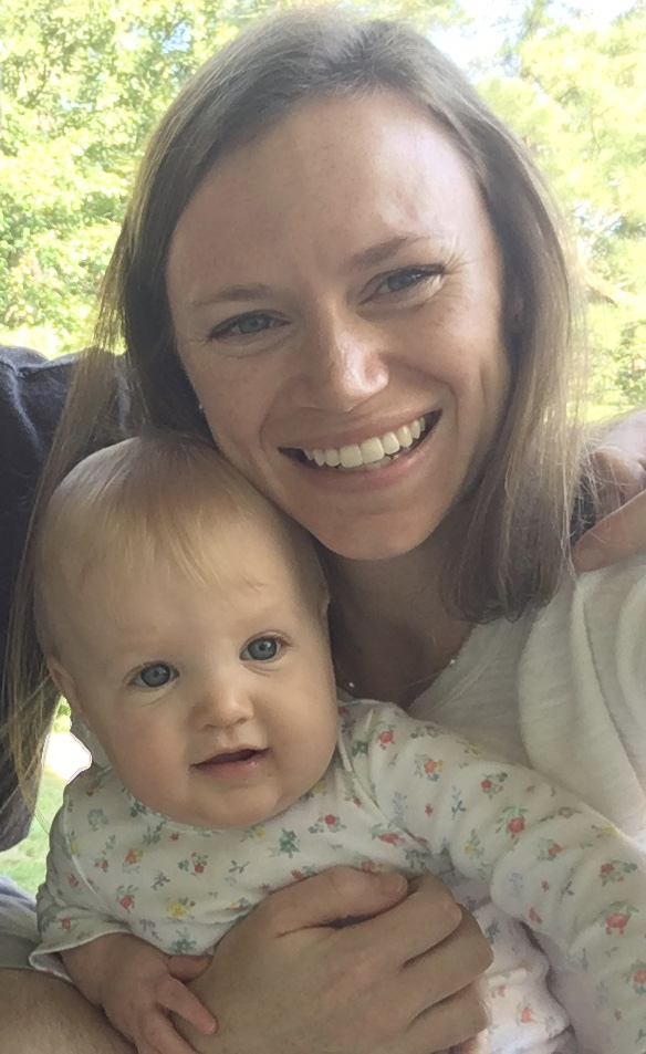 - Julia Baker, 4th year Epidemiology PhD candidate with her daughter Ginny